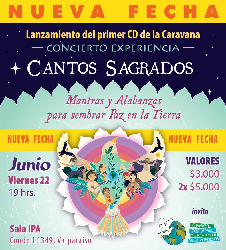 Junio Viernes 22 / Lanzamiento Cantos Sagrados   Concierto Experiencia