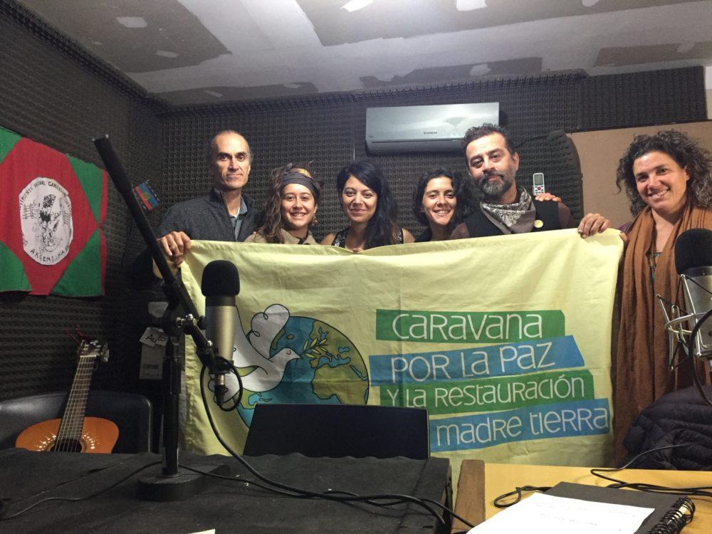 Un círculo de corazón Caravanero en Mendoza